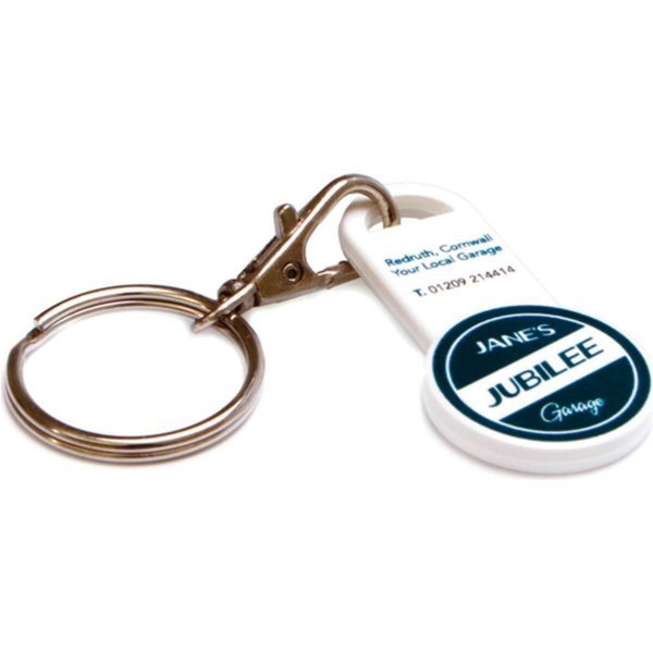 Recycled Trolley Coin Stick Keyring