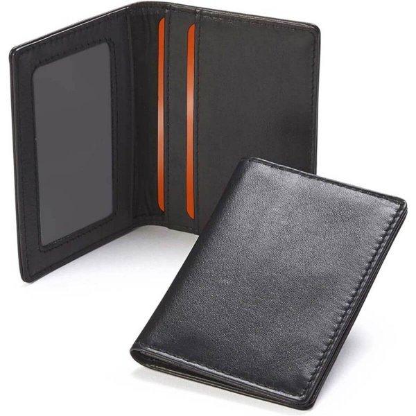 Premium Leather Travel Card Case
