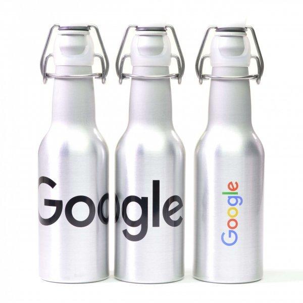 Brushed Aluminium Sports Bottle