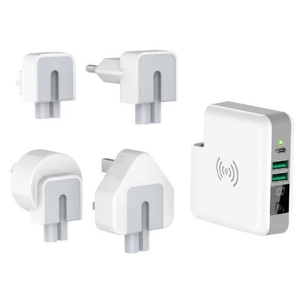 Wireless 3 in 1 Travel Charger