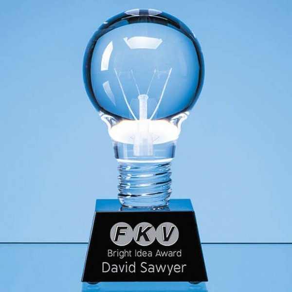 Light Bulb Crystal Awards