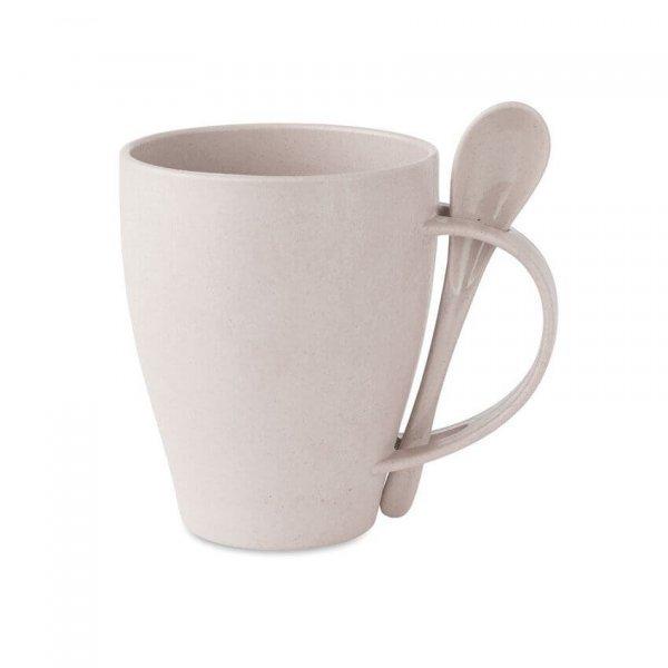 Bamboo Coffee Mug with Spoon