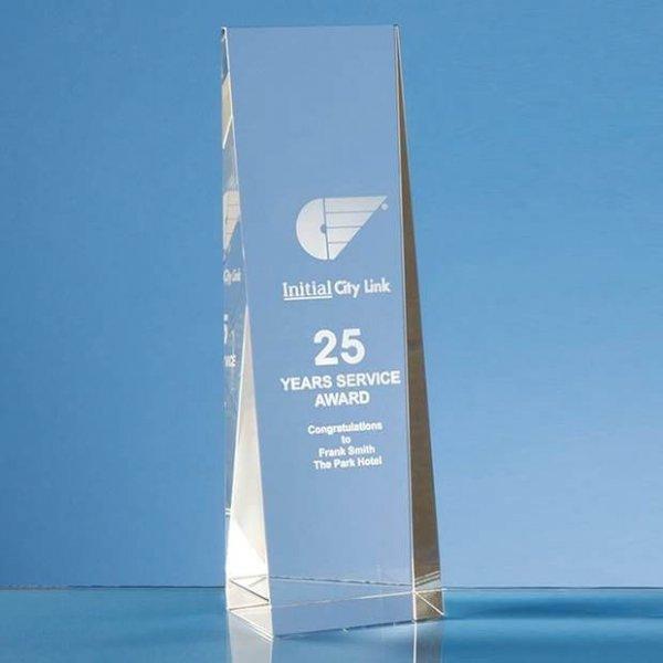 Rectangle Wedge Crystal Award
