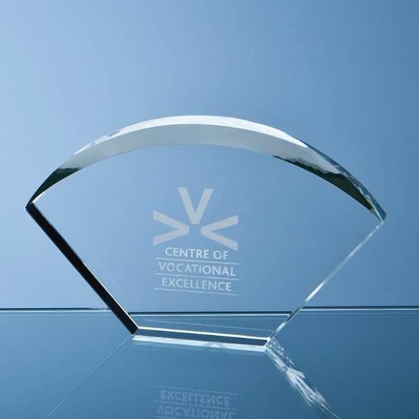Bevelled Arch Crystal Award