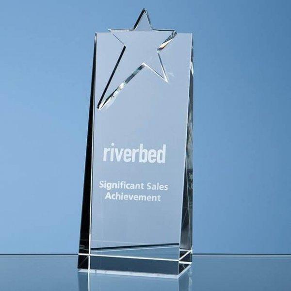 Star Rectangle Crystal Award
